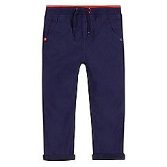 bluezoo - Boys' navy jersey lined poplin trousers