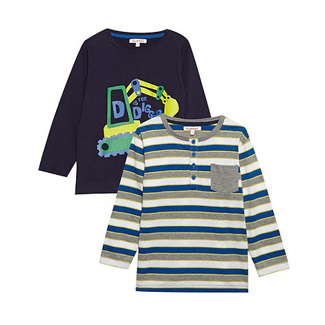 bluezoo - Boy+s pack of two long sleeved printed t-shirts
