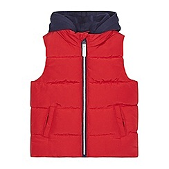bluezoo - Boys' red padded hooded gilet
