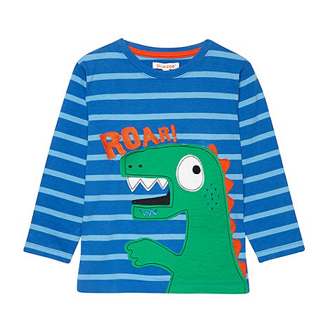 bluezoo - Boy+s blue long sleeved dino t-shirt
