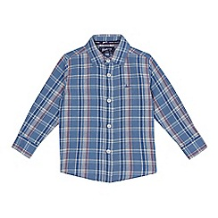 Mantaray - Boys' blue checked shirt