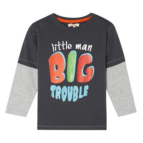bluezoo - Boy+s grey +Big Trouble+ t-shirt