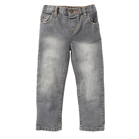 bluezoo - Boy+s grey plain denim jeans