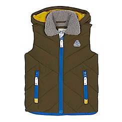 Mantaray - Boys' khaki zip-up hooded gilet