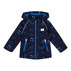 Mantaray - Boys' navy printed fleece lined jacket