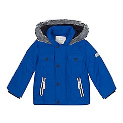 J by Jasper Conran - Boys' blue quilted water repellent jacket
