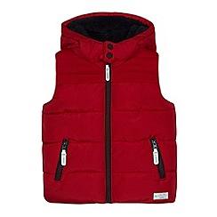 J by Jasper Conran - Boys' red padded hooded gilet