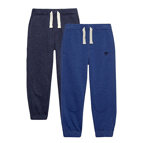 bluezoo - Boy+s pack of two blue and navy jogging bottoms