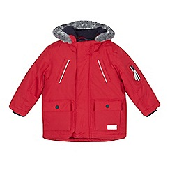 J by Jasper Conran - Boys' red 3-in-1 parka coat
