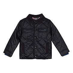 J by Jasper Conran - Boys' navy quilted waxed jacket