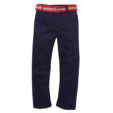 bluezoo - Boy+s navy belted chinos