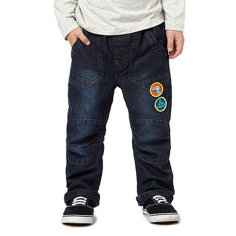bluezoo - Boy+s blue rib badge jeans