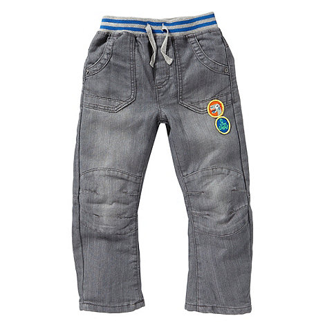 bluezoo - Boy+s blue ribbed waist jeans