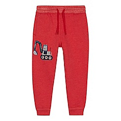 bluezoo - Boys' red digger jogging bottoms