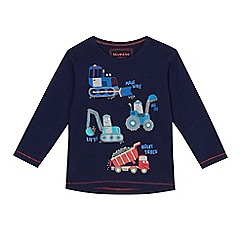 bluezoo - Boys' blue vehicle print long sleeve top