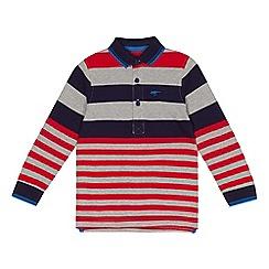 bluezoo - Boys' multi-coloured striped polo shirt