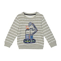 bluezoo - Boys' grey light up truck applique jumper