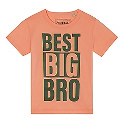 bluezoo - Boys' orange 'Best Big Bro' t-shirt