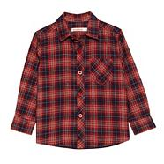 Boy's red checked flannel shirt