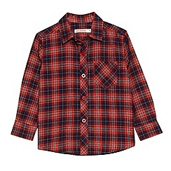bluezoo - Boy's red checked flannel shirt