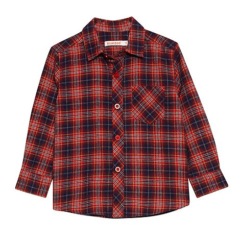 bluezoo - Boy+s red checked flannel shirt