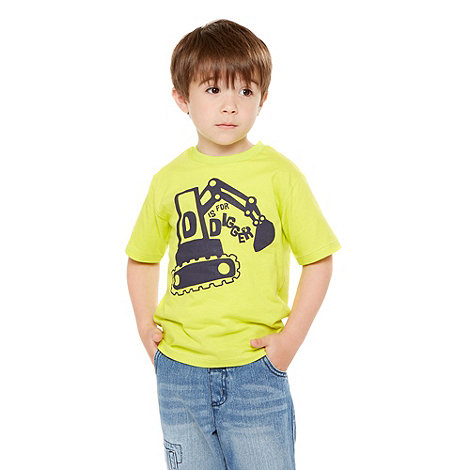 bluezoo - Boy+s yelllow digger printed t-shirt