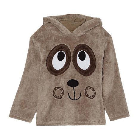 bluezoo - Boy+s brown bear face fleece