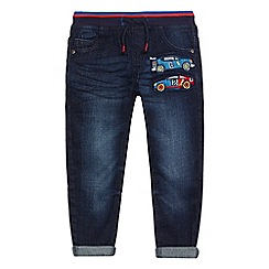 bluezoo - Boys' blue car applique jeans