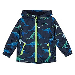 bluezoo - Boys' navy dinosaur print mac