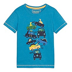 bluezoo - Boys' blue stacked car print t-shirt