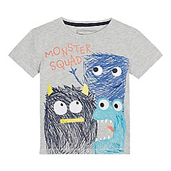 bluezoo - Boys' grey 'Monster Squad' t-shirt