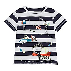 bluezoo - Boys' blue truck print t-shirt