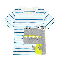 bluezoo - Boys' white striped t-shirt