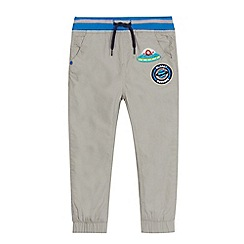bluezoo - Boys' grey alien applique badge trousers
