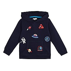 bluezoo - Boys' navy space applique hoodie