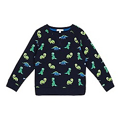 bluezoo - Boys' navy dinosaur print jumper