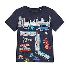 bluezoo - Boys' navy 'Dino in London' print t-shirt