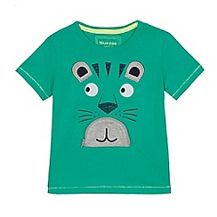 bluezoo - Boys' green tiger print t-shirt