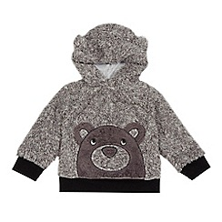 bluezoo - Boys' grey bear hoodie