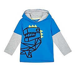 bluezoo - Boys' blue dinosaur mock sweater