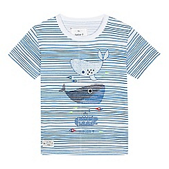 J by Jasper Conran - Boys' white and blue striped whale print t-shirt