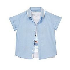 J by Jasper Conran - Boys' white sea print t-shirt and blue shirt set