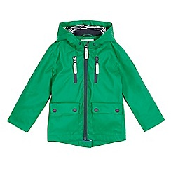 J by Jasper Conran - Boys' green rubberised coat