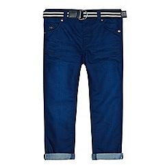 J by Jasper Conran - Boys' blue belted slim jeans