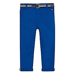 J by Jasper Conran - Boys' blue slim chinos with belt