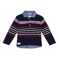J by Jasper Conran - Boys' multi-coloured striped mock polo shirt
