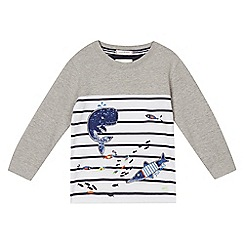 J by Jasper Conran - Boys' grey whale applique sweater