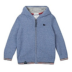 J by Jasper Conran - Boys' blue embroidered logo hoodie