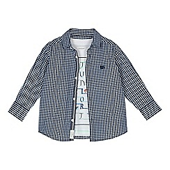 J by Jasper Conran - Boys' blue gingham shirt and t-shirt set