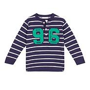 Boy's navy shawl neck sweat cardigan